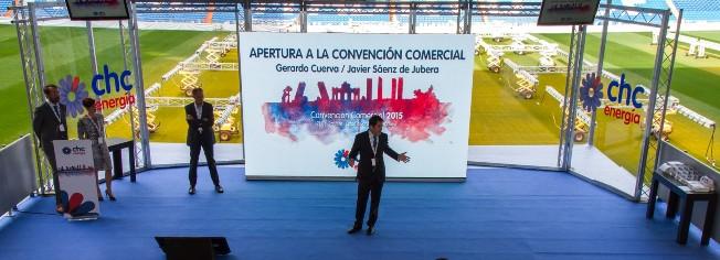 Imagen del evento celebrado en el Palco de Honor del Estadio Santiago Bernabéu.