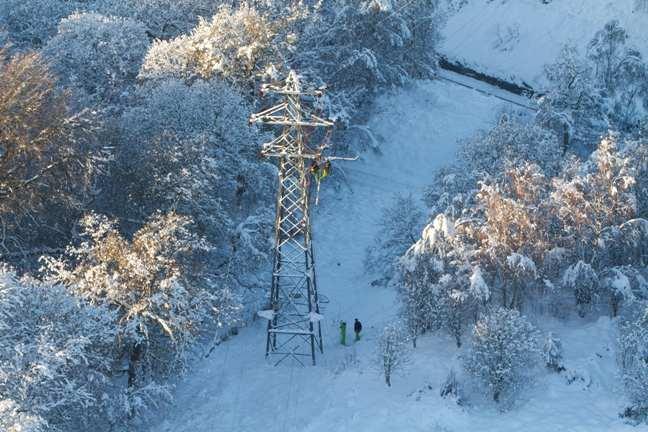 Líneas eléctricas de ScottishPower.