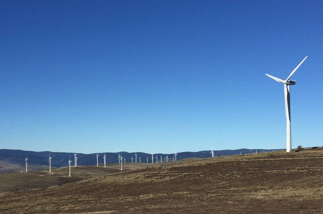 Parque eólico en Villar del Río, Soria