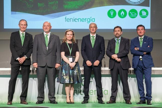 El Consejo de Administración de Fenie Energía. De izq.a dcha: Miquel Puig, Carlos Moyá, Isabel Reija, Sergio Pomar, Goio Merchán y Enrique Ruiz.