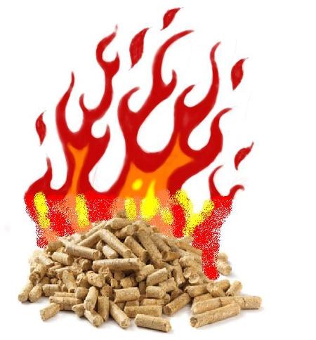 pellets ardiendo