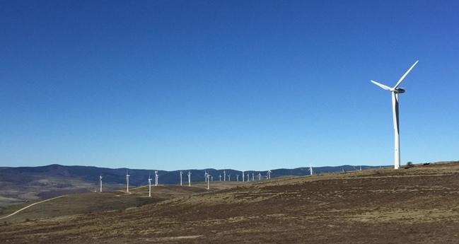 Parque eólico de Villar del Río, en Soria.