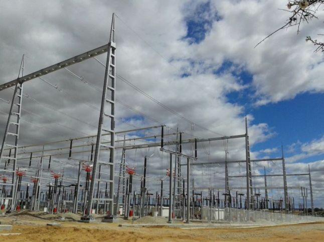 Subestación Eléctrica 400 KV en Valdecarretas, provincia de Zamora. Foto: ©Hallmann Energie