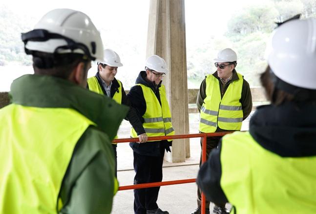 El presidente de Iberdrola, Ignacio Galán, durante la visita a una instalación de la compañía