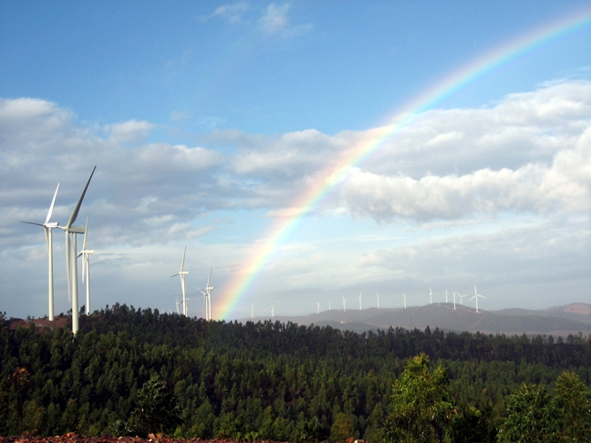 Complejo eólico de Iberdrola El Andévalo, en Andalucía